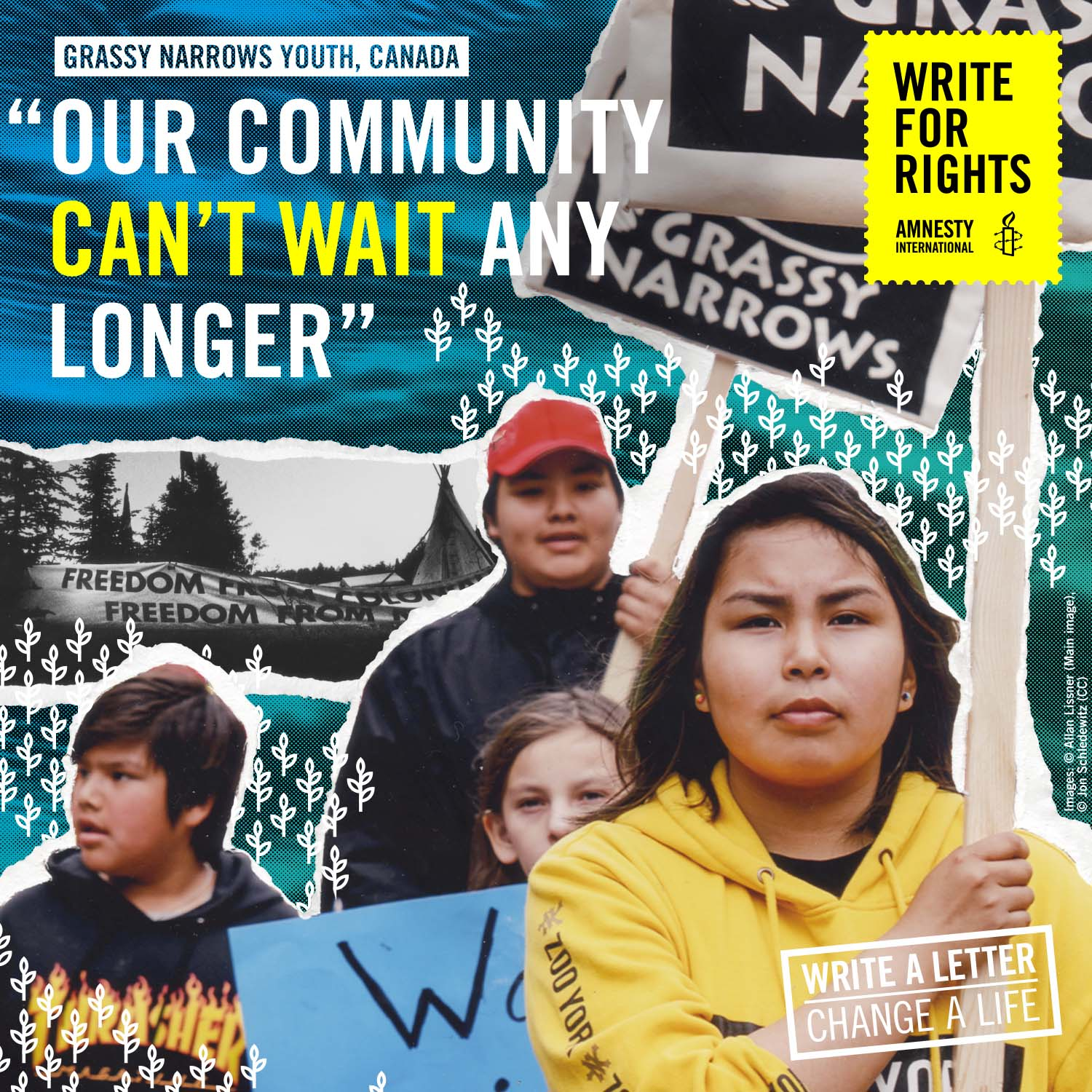 Grassy Narrows Write For Rights poster